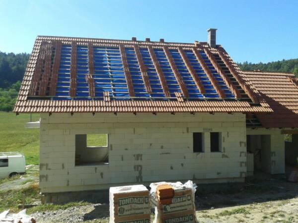 Instalación cubierta vivienda lámina impermeable transpirable ONDUTISS AIR