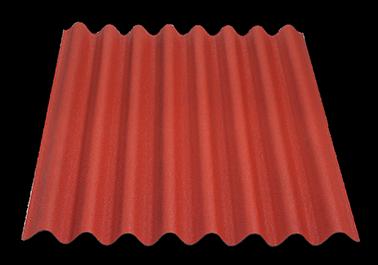 Placa asfáltica ondulada ONDULINE EASYLINE color rojo