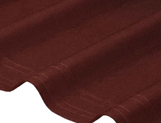 Marcas solape Placa asfáltica ondulada imitación teja Onduline Tile rojo