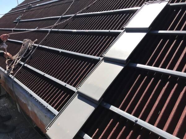 Listón PVC Onduline: detalle instalación teja planum La Escandella
