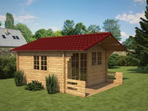 Caseta de madera cobertura techo teja ONDUVILLA Rojo clásico