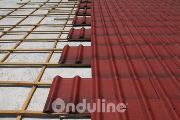 Cubierta ligera cobertura techo teja ONDUVILLA Rojo clásico