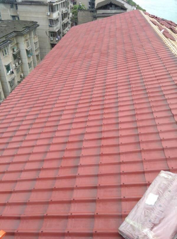 Rehabilitación cubierta cobertura techo teja ONDUVILLA Rojo clásico