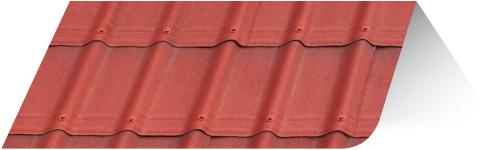 Teja asfáltica ligera ONDUVILLA Color Rojo clásico cobertura techo